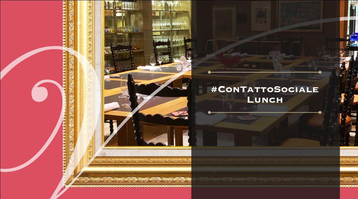 """Pranzo a Casa Vissani, tavola conviviale con la proposta """"Contatto Lunch"""""""