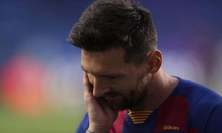 Champions League, il calciatore del Barcellona Leo Messi in una foto Ansa
