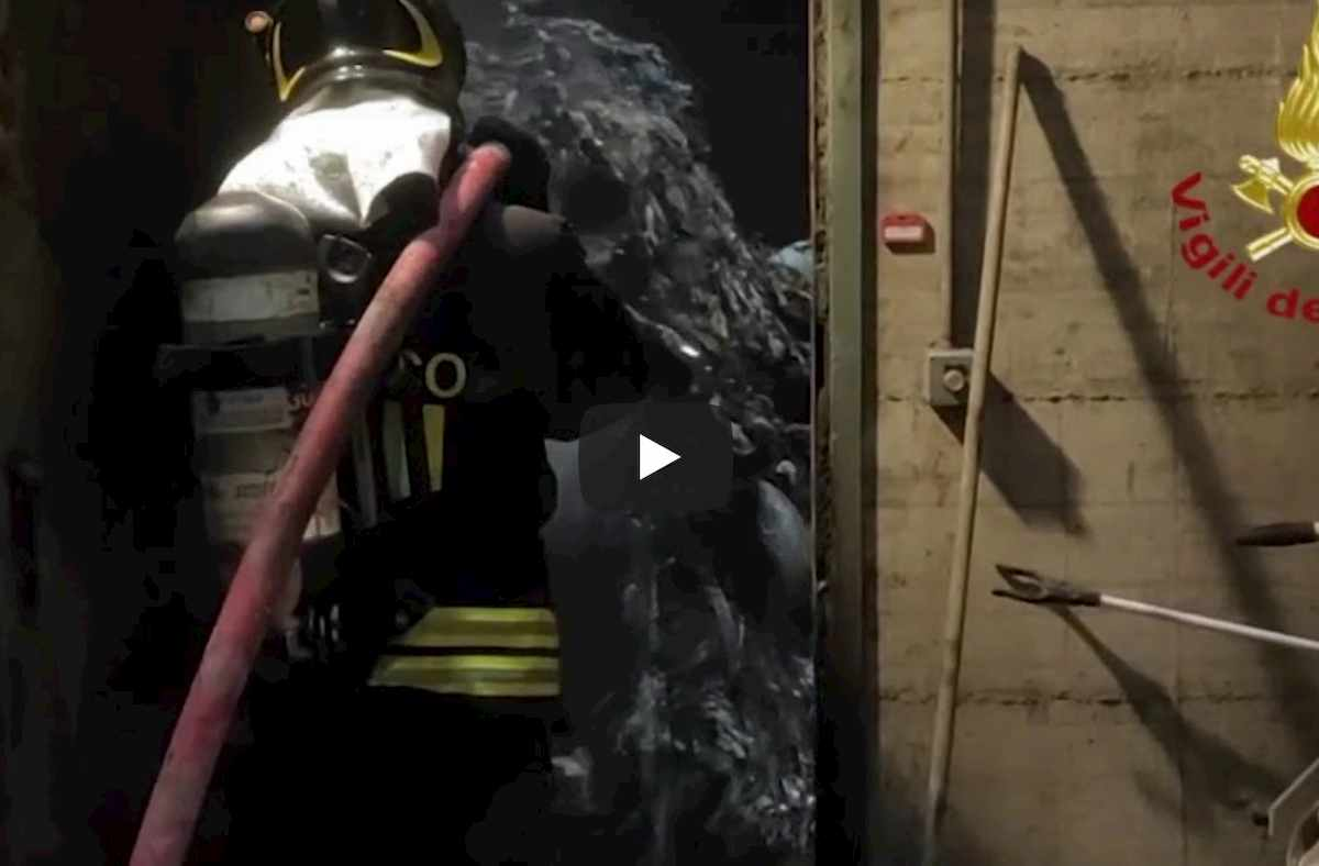 Granarolo, a fuoco inceneritore Hera. Vigili del Fuoco a lavoro per ore