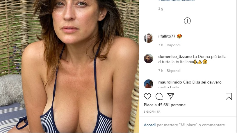 Elisa Isoardi, scollatura in bikini FOTO. E Max Felicitas apprezza...