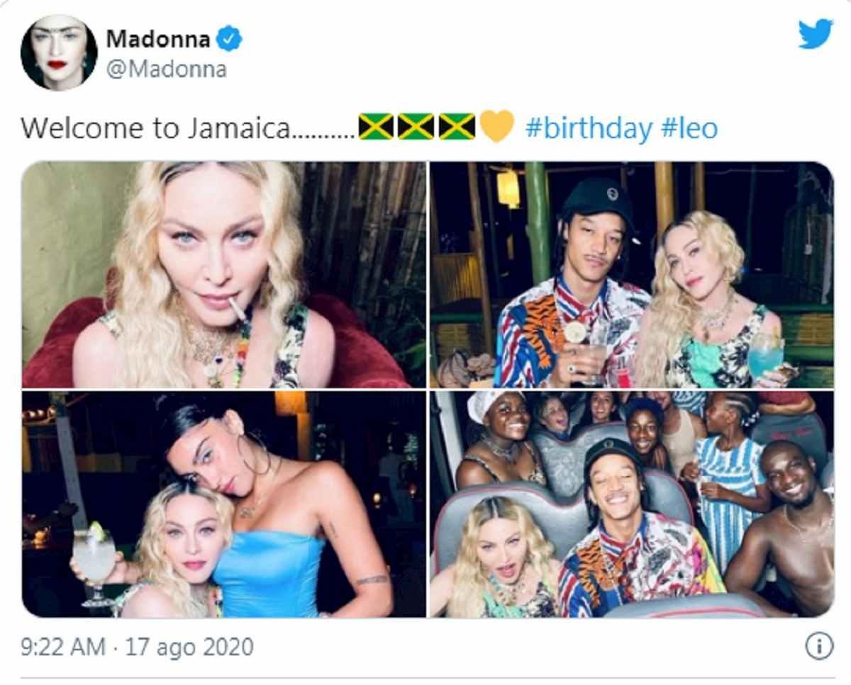 madonna e la festa in giamaica