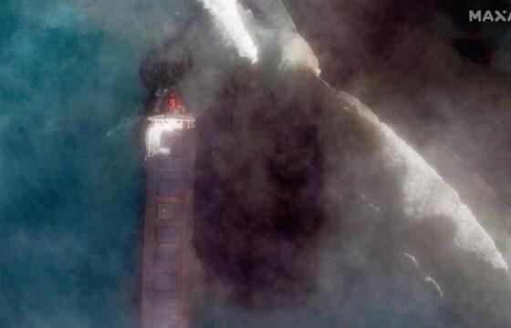Mauritius marea nera, disastro ambientale causato da una petroliera FOTO