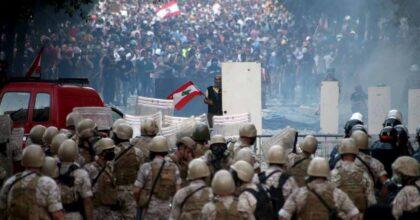 Polizia a Beirut, foto Ansa