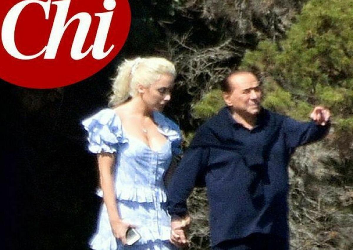 Silvio Berlusconi e Marta Fascina, foto Chi