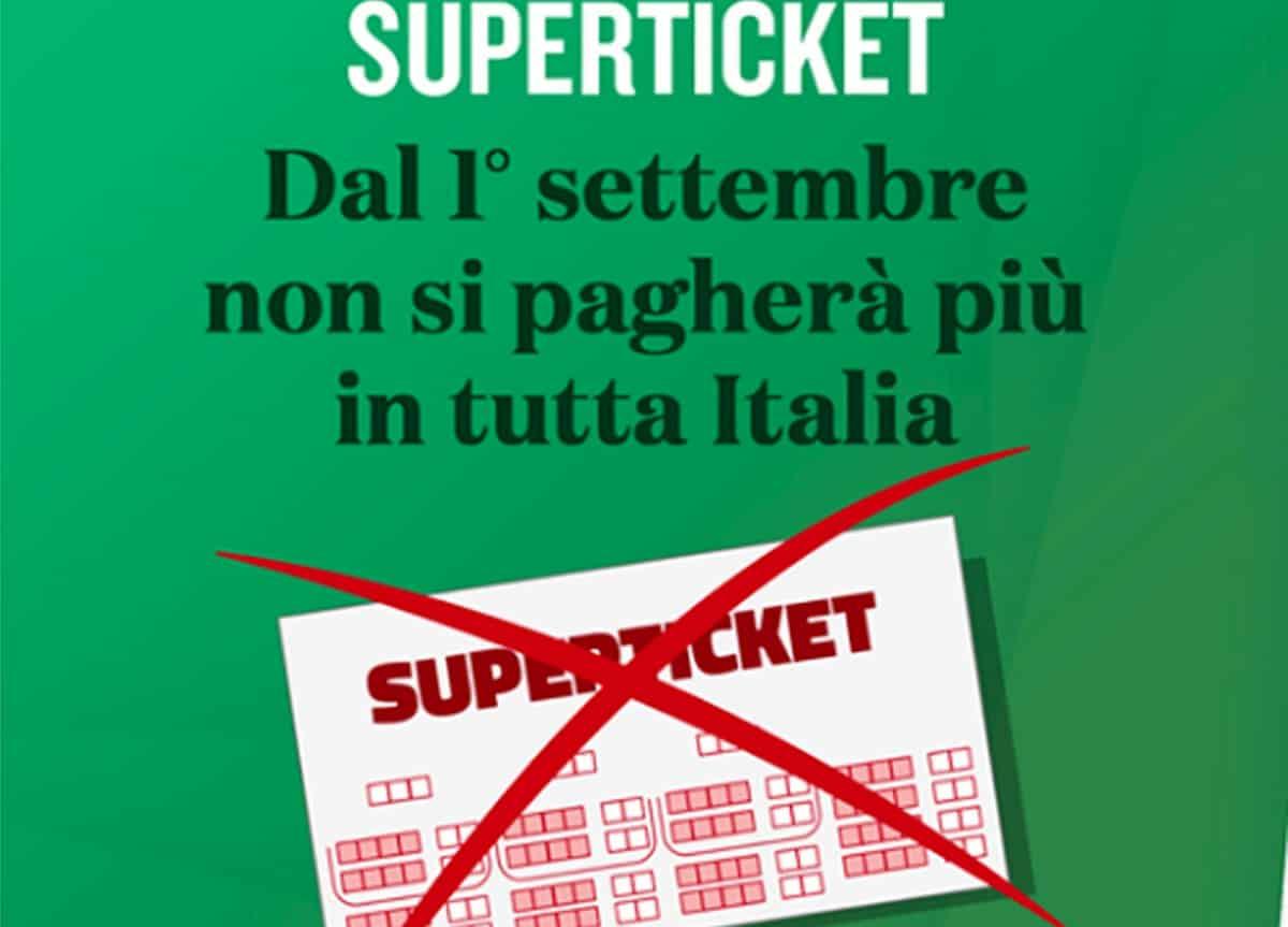Superticket abolito dal 1 settembre