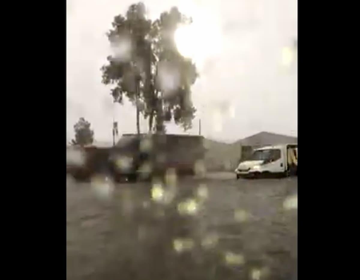 Catania, nubifragio e forti raffiche di vento VIDEO