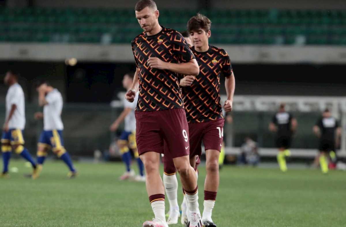 Verona-Roma 0-0, tre traverse ma nessun gol: senza Dzeko i giallorossi pungono
