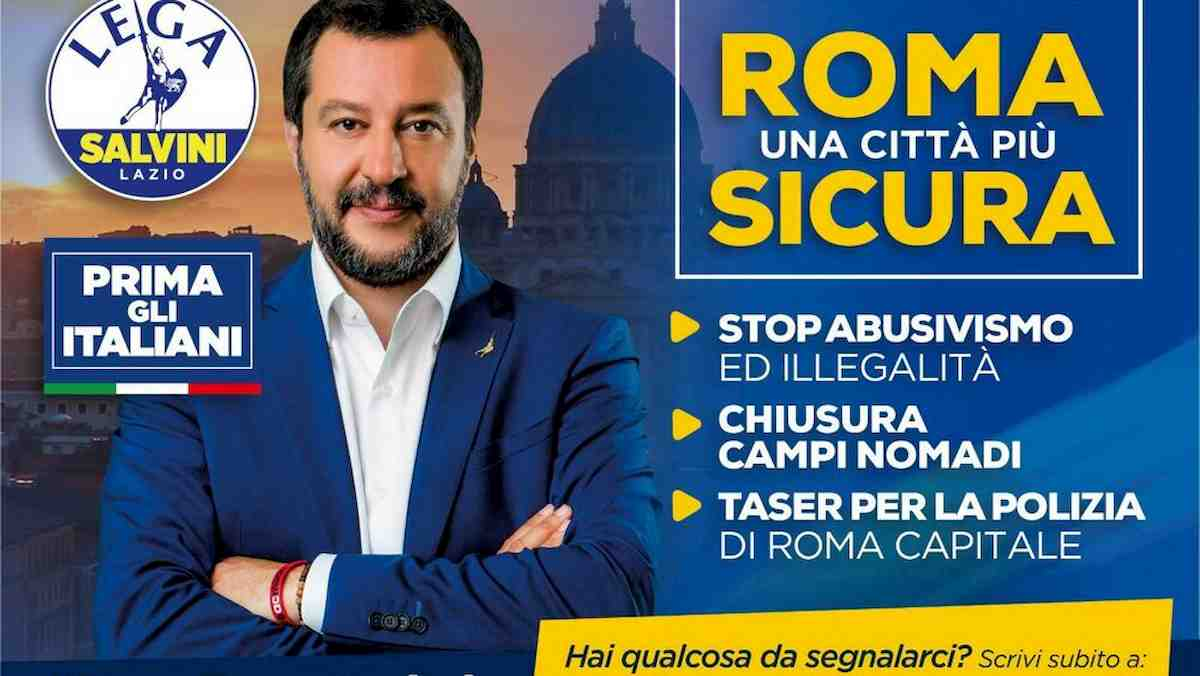 elezioni, manifesti a Roma