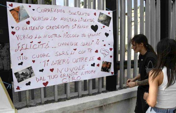 funerali caiano, manifesto Ciro