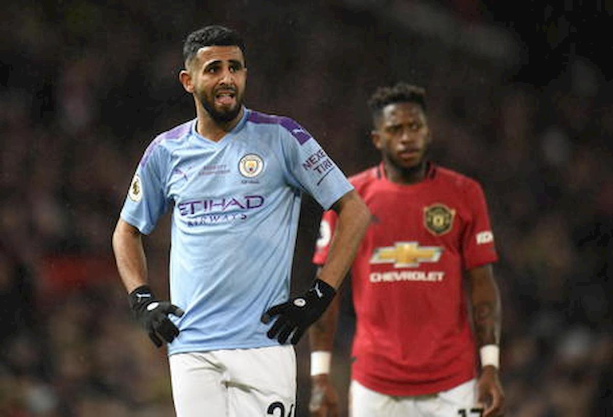 Riyad Mahrez e Aymeric Laporte del Manchester City positivi coronavirus
