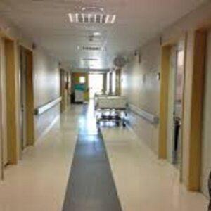 Trisha Taylor, foto Ansa di un ospedale