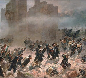 Porta Pia, i bersaglieri entranio a Roma. Il Piemonte completa l'annessione dell'Italia e la fine del Risorgimento con Garibaldi a Caprera.
