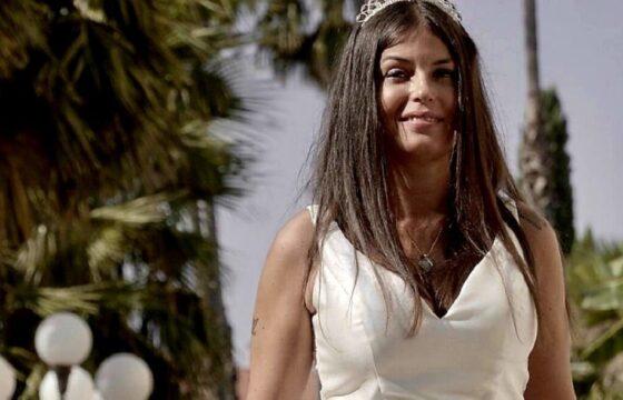 Sara Tommasi in abito da sposa