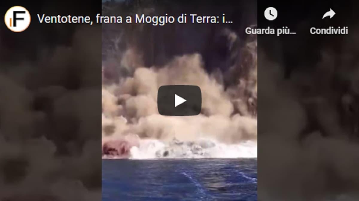 """Frana a Ventotene, isolate 15 case e un hotel. Il Comune: """"Nei prossimi giorni probabile un altro crollo"""". Ecco il video"""