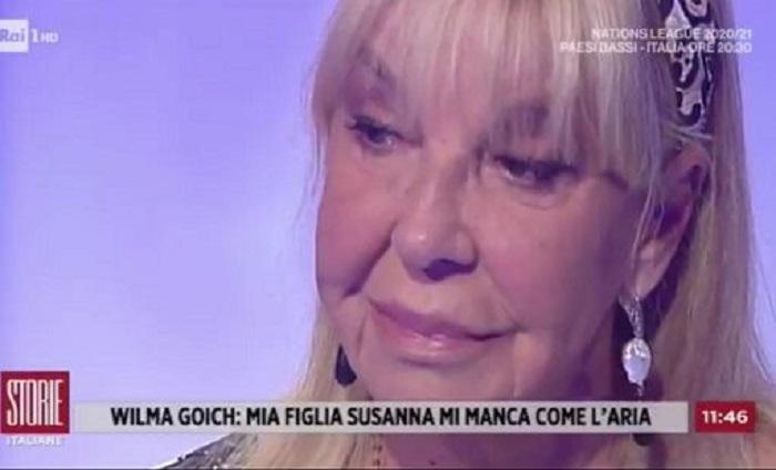 """""""Mi manca..."""", Wilma Goich in lacrime a """"Storie Italiane"""" ricorda la figlia scomparsa"""