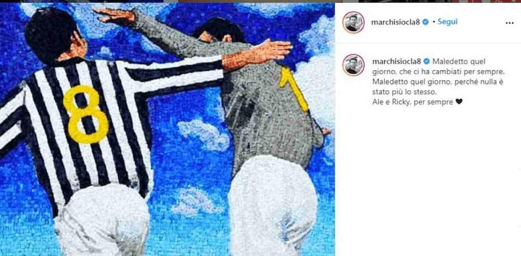 il post di Marchisio su ragazzi morti