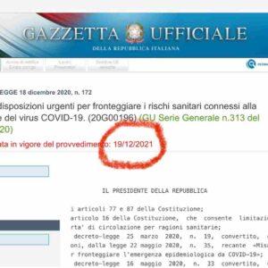 Decreto Natale, il refuso (poi corretto) in Gazzetta Ufficiale che fa ridere il web. In vigore tra un anno?