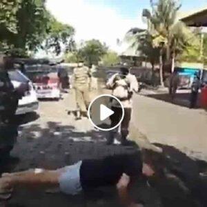 Bali, turisti senza mascherina costretti a fare flessioni per strada: i VIDEO con le punizioni