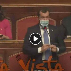Pasquale Pepe, lapsus del senatore della Lega: Professor Monte VIDEO Cioè la crasi tra Conte e Monti...