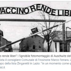 Il post sul vaccino con Auschwitz e il post pro Trump, polemiche sul centrodestra vicino Frosinone