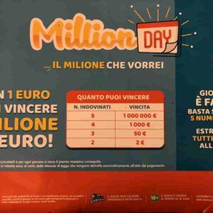 Million Day estrazione oggi martedì 9 febbraio 2021: numeri e combinazione vincente Million Day di oggi