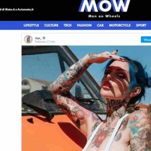 """Riae, italiana super tatuata con 4 milioni di follower. """"Non pensavo di diventare la Gigi Hadid alternativa"""""""