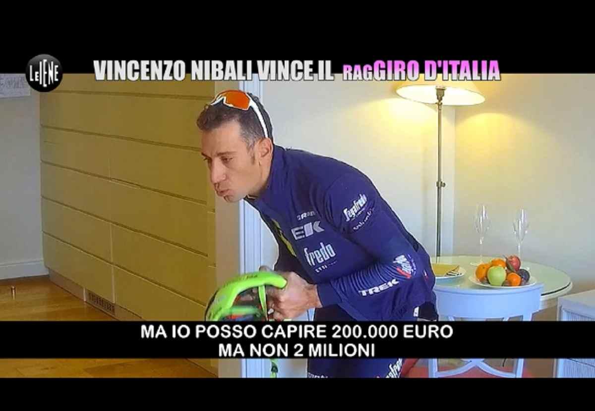 Vincenzo Nibali, lo scherzo a Le Iene