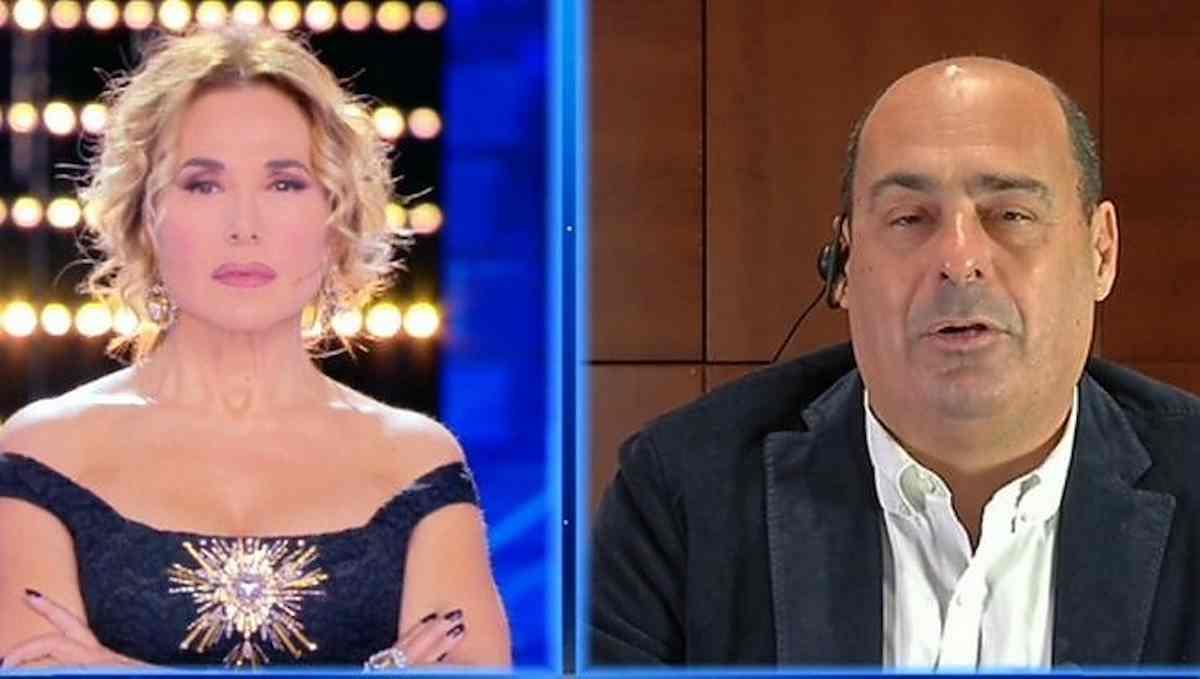 """Nicola Zingaretti in difesa di Barbara D'Urso: """"C'è bisogno di te, hai portato la politica alla gente"""""""