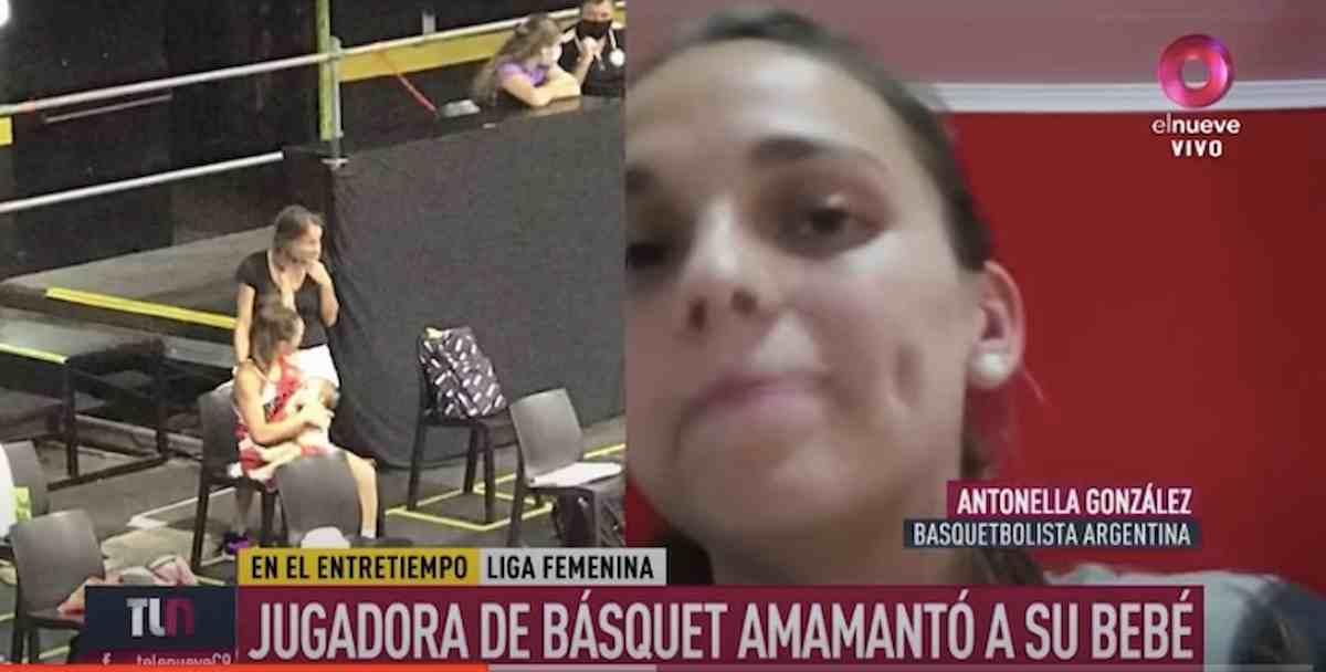 Antonella Gonzalez allatta la figlia in panchina, il VIDEO con il gesto della giocatrice basket è virale