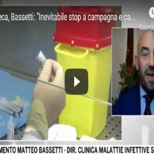 """Astrazeneca, Bassetti: """"Le istituzioni stanno confondendo la gente, l'Aifa ha fatto un altro autogol"""" VIDEO"""