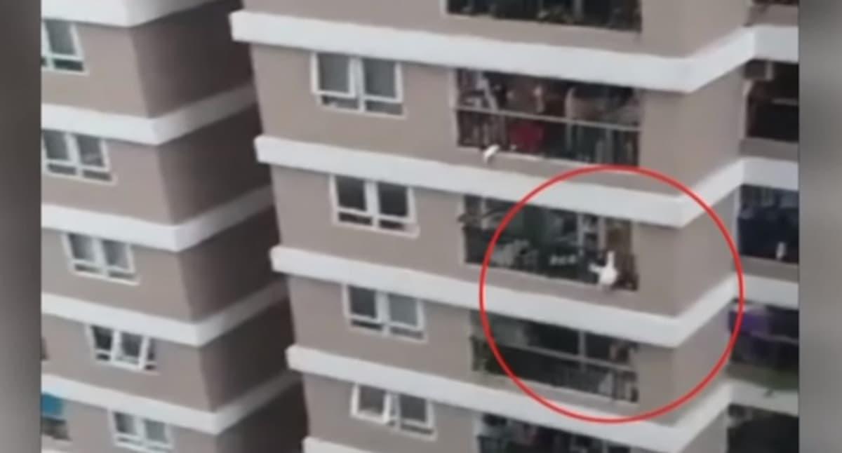 Bimba di 2 anni cade dal balcone al 12° piano