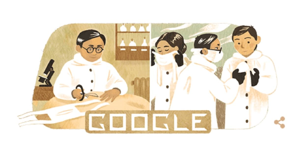 Doodle di Google celebra Wu Lien-teh: chi è l'inventore delle mascherine chirurgiche