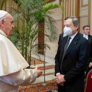 Mario Draghi in Vaticano da Papa Francesco, messa per inaugurazione anno giudiziario e visita Cappella Sistina