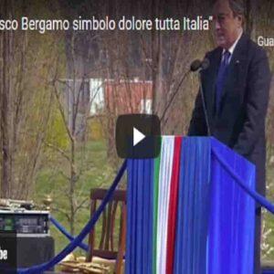 """Draghi: """"Bergamo è simbolo del dolore di tutta Italia. Lo Stato c'è e ci sarà"""" VIDEO"""