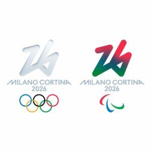 Olimpiadi invernali Milano-Cortina 2026 Futura logo