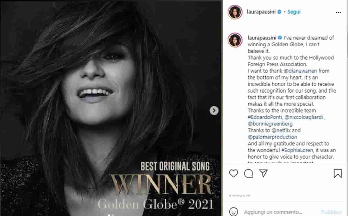 Golden Globe a Laura Pausini per Io sì. Golden Globes 2021: tutti i premi e i vincitori, trionfa Nomadland