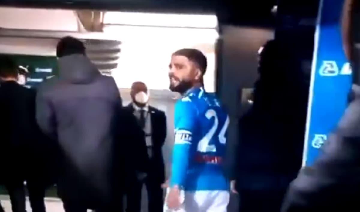 """Insigne arrabbiato dopo Sassuolo-Napoli 3-3: perde la testa e urla """"squadra di m..."""" VIDEO"""
