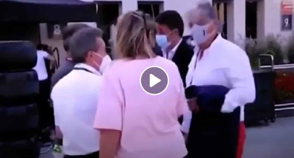 """Renzi nel paddock del Gp di Bahrein di F1 con Jean Todt: il VIDEO provoca sdegno sui social dell'Italia """"in zona rossa"""""""