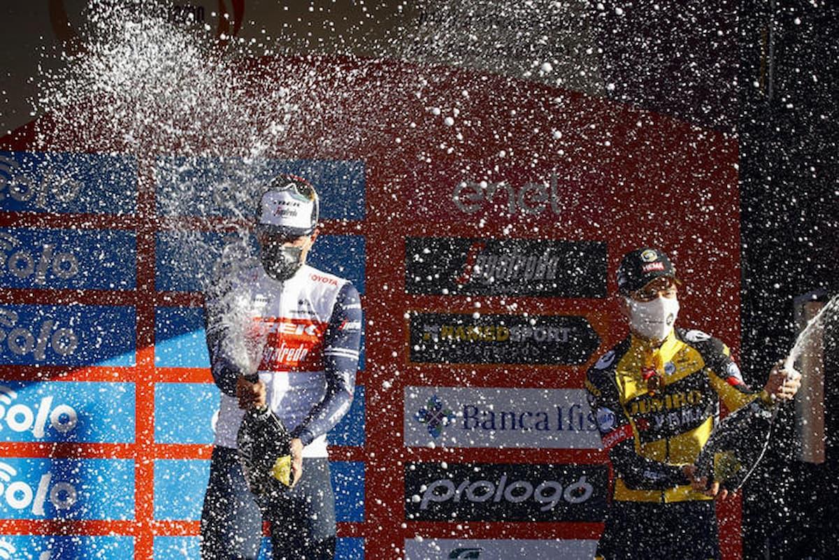 Milano-Sanremo, Jasper Stuyven festeggia la vittoria