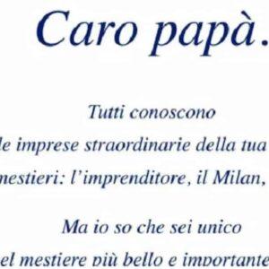 Pier Silvio Berlusconi, lettera auguri Festa del Papà a papà Silvio: compra una pagina sul Corriere e Giornale