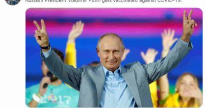 Vladimir Putin si è vaccinato ma non si è fatto fotografare. Perché?