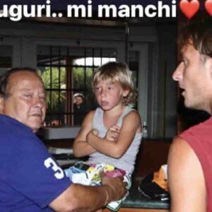 """Francesco Totti e il post su Instagram per papà Enzo: """"Auguri, mi manchi"""""""