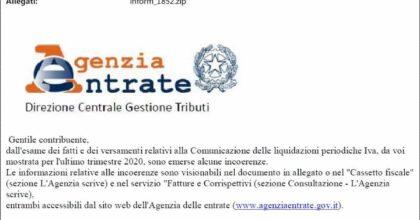 """False email Agenzia delle Entrate sui rimborsi Iva: """"Cestinate senza aprire alcun allegato"""""""