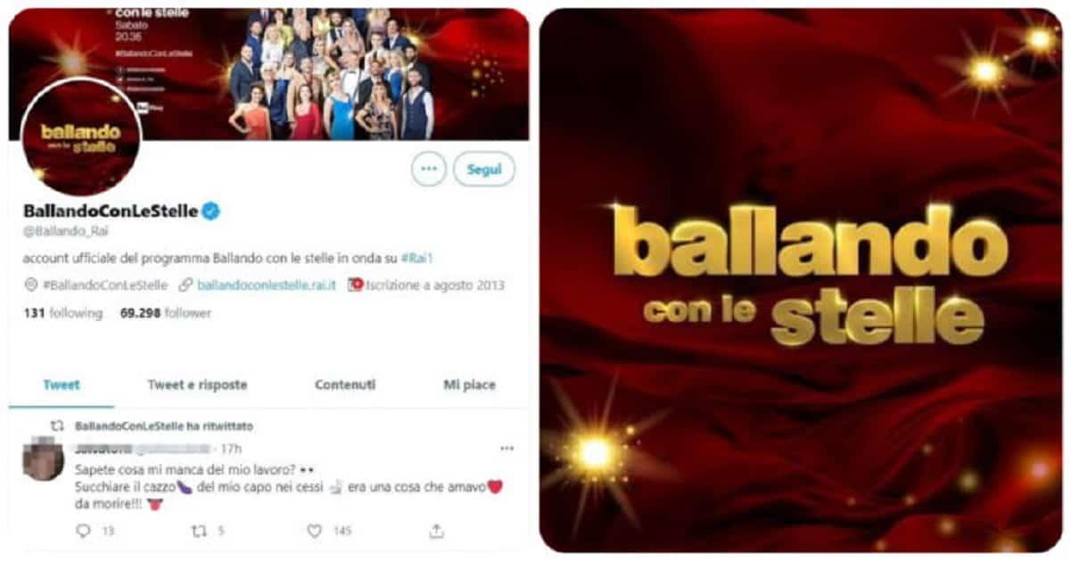 Ballando con le Stelle tweet a luci rosse del social media manager: ''Mi manca succhiarlo al capo nei cessi''