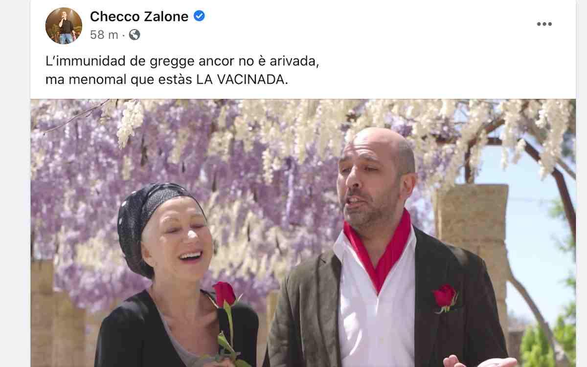 Checco Zalone con Helen Mirren balla La Vacinada: il nuovo video del comico invita a vaccinarsi