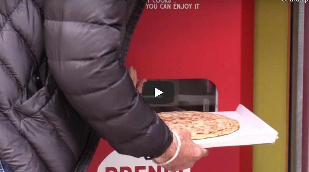Mr. Go, a Roma arriva il distributore automatico di pizza: pronta in 3 minuti, h24, 7 giorni su 7