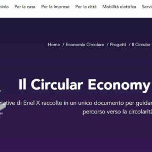 Enel X pubblica il Circular Economy Factbook 2020: le attività per l'economia circolare nell'ultimo anno