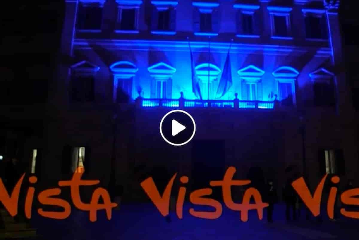 2 aprile giornata mondiale dell'autismo: Palazzo Chigi diventa azzurro VIDEO Elio racconta la storia del figlio