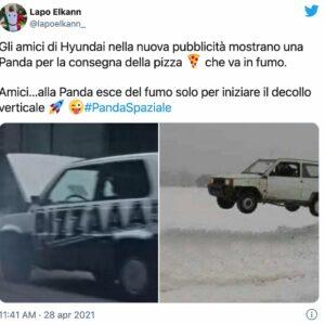 Hyundai sbeffeggia la Panda: Lapo Elkann contro lo spot lancia l'hashtag #IoSonoPanda