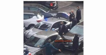 incidente mario draghi, la foto